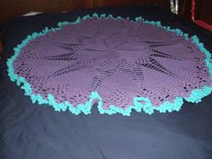 red heart doily baby blanket made larger with larger hook
