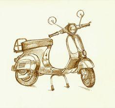 EDM:6 vespa ink.jpg by jeremyslagle, via Flickr