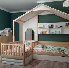 Kids Room Ideas For Girs Toddler Decor Playrooms 49 Ideas Baby Bedroom, Baby Room Decor, Girls Bedroom, Bunk Beds With Stairs, Kids Bunk Beds, Toddler Rooms, Toddler Girl, Daughters Room, Kids Room Design