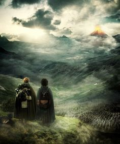 """""""I hope the others find a safer road."""" """"Strider will look after them."""" """"I don't expect we'll see them again."""" """"We may yet, Mr Frodo. We may."""" """"Sam... I'm glad you're with me."""" <3"""