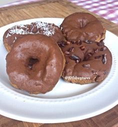 Ripped Recipes - Five Minute Chocolate Mint Glazed Donuts - If you love chocolate and mint and donuts then you'll love these donuts. These chocolatey donuts are topped with a delicious chocolate mint glaze. Best part? These donuts only take about 5 minutes to make.