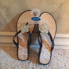 Women's BLUE Sandals Size 7-8  Women's Rubber Beach Slip Ons, Heel Height: 1.5 inches Color: Black, New Size: 7-8 SHARE, SHARE, SHARE, the favor will be returned.ALL OFFERS CONSIDERED Shoes Sandals