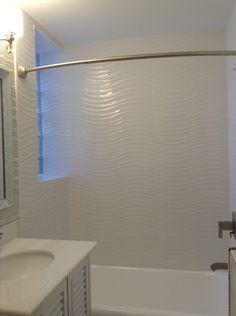 New shower surround