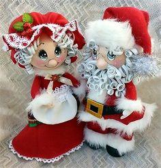 Santa Claus y Mamá Claus Fofuchas