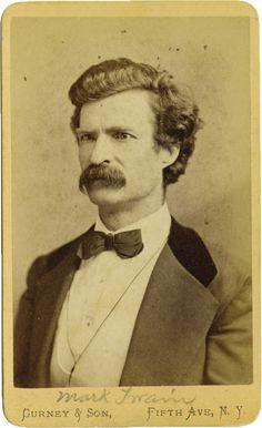 """ca. 1871, """"Mark Twain"""", Gurney & Son  via Heritage Auctions"""