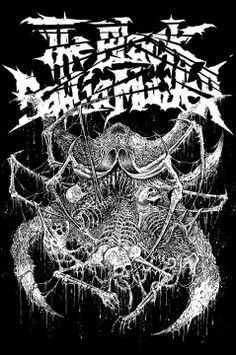 New T-Shirt illustration for THE BLACK DAHLIA MURDER. #markriddick