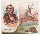 Richmond Straight Cut No 1 Cigarette Card Chief Young Black Dog Osage 1888 - 1888, Black, card, Chief, Cigarette, Osage, Richmond, Straight, Young