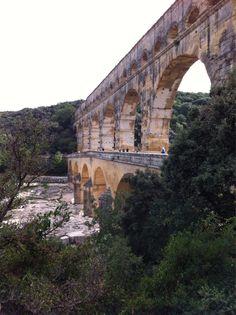 Pont Du Gard Aqueduct, Provence, France #travel [photo by P. Brynes]