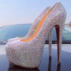 Diamond heels .... So cool I would wear these oooohhhhyeeeeah lol