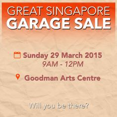 Mark your calendars for Singapore's very first Great Singapore Garage Sale