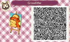 Growlithe qr code for animal crossing new leaf