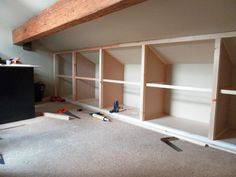 awesome installing shelving in attic bedroom - Google Search... by http://www.best100-home-decor-pics.club/attic-bedrooms/installing-shelving-in-attic-bedroom-google-search/