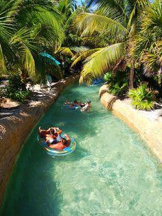 Chillin' at Lazy River, Paradise Atlantis, Bahamas. #islandlife #palmtrees #royalcaribbean