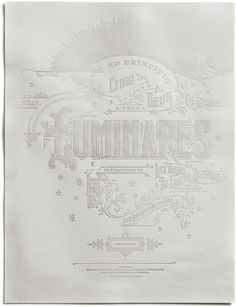 Kevin Cantrell: Luminares Poster Take alook at this absolutely stunningposter by Kevin Cantrell, the first addition to his brand new online shop. Luminaresis available for purchase in two versions: one printed withantique gold foil and the other blind hot stamped, which creates an effect of transparency when backlit or held up to natural light. Both limited edition pieces are available for purchasenow.