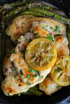 ONE PAN LEMON CHICKEN WITH ASPARAGUS -- PART OF OUR 20 MUST MAKE LEMON CHICKEN RECIPES!