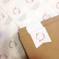 Sticker pour embellir votre enveloppes I Design by Crème de Papier
