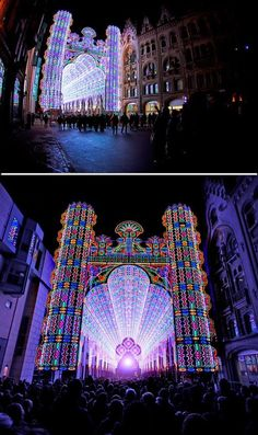Cathedral Art Installation Made from 55,000 LED Lights in Belgium