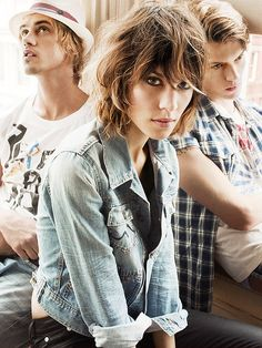 Alexa Chung, Boyd Holbrook and Tom Guinness for Pepe Jeans SS10 Campaign
