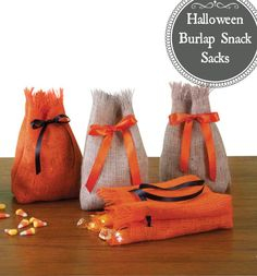 Halloween burlap snack sacks :) #HowTo