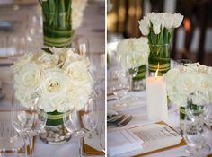 white flowers for wedding reception Veronika & Jarat   Terranea Resort Wedding