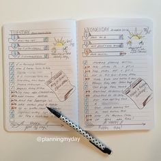 "221 Likes, 29 Comments - Laura (@planningmyday) on Instagram: ""Good morning! This is my ""week-at-a-glance"" in my ""daily"" BUJO! Made a few simple changes; on my…"""