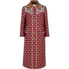 Gucci Metallic jacquard coat