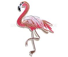 Grand patch thermocollant flamant rose flamingo à coudre ou repasser 140 x 94 mm - PPE5