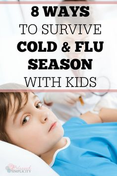 When cold and flu season sets in, these are great tips for surviving and staying healthy with kids. #coldandflu #familyhealth