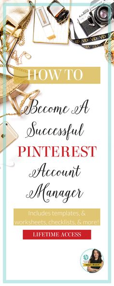 Are you a Social Media Manager? Do you want to offer Pinterest marketing services to your existing clients? Do you want to work from home? Then this course is for you. Includes daily, weekly, and monthly checklist to help you become a successful Pinterest account manager. Learn more at http://www.whiteglovesocialmedia.com/become-pinterest-account-manager/ | Social Media Marketing | Pinterest for Business