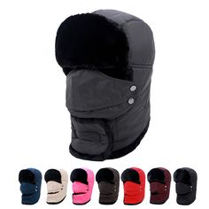 Winter Hat Warm Hat for Outdoor Ski Cap, Hunting Cap,Mountaineering Hat for Men and Women Sports Warm Hat