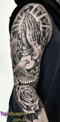 20 religious tattoos to inspire you - New Tattoo Models Chicanas Tattoo, Forarm Tattoos, Forearm Sleeve Tattoos, Best Sleeve Tattoos, Body Art Tattoos, Hand Tattoos, Cool Tattoos, Cloud Tattoo Sleeve, Jesus Tattoo Sleeve