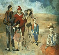 Pablo Picasso, 1905. Family of Saltimbanques. oil on canvas. national gallery of art, Washington D.C.