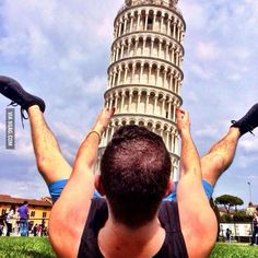 He was told take an original picture at the Leaning Tower of Pisa