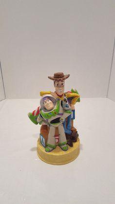 "Vintage Disney Toy Story Woody & Buzz Lightyear Plastic Coin Bank Rubber 8"" x 5"" #Disney"