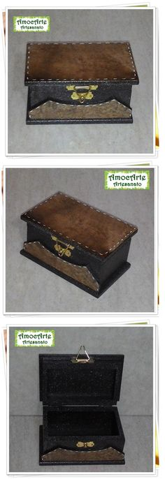 Peça organizadora - caixa com detalhe em filtro de café madeira http://www.amocarte.blogspot.com.br/