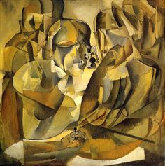 Marcel Duchamp (French-American; Modernism, Cubism; 1887-1968): Portrait of Chess Player (Portrait de joueurs d'échecs), 1911. Oil on canvas, 39-3/4 x 39-3/4. The Louise and Walter Arensberg Collection, Philadelphia Museum of Art, Pennsylvania, USA