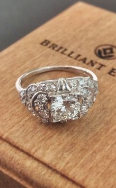 Vintage diamond ring   we ❤ this!  moncheribridals.com