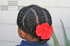 Loose Flat Twists with Pinned Bun #NaturalHair #Hairstyle   Chocolate Hair / Vanilla Care