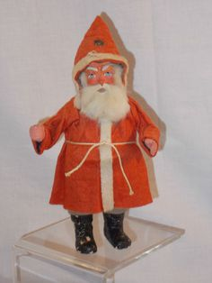 """Fabulous 8"""" GERMAN Santa / Belsnickle Candy Container 1910-20 ebay $875"""
