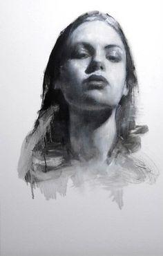 """Georgina head study"" by Mark Demsteader  oil on board, 22ins x 14ins"