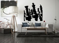 Wall Vinyl Sticker Decals Mural Room Design Pattern Art Chess Game Sport Board Fun bo1815 by RoomDecalsAndDesigns on…