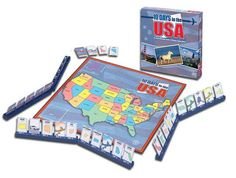 10 Days in the USA board game is a fun way for visual & kinesthetic learners to reinforce American geography & the states.  Also look into the other titles such as 10 Days in Africa and 10 Days in Asia.