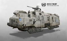 ArtStation - Golem Hover Tank, Daniel Comerci