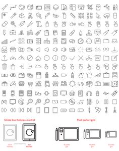 Vector Line Icons set preview