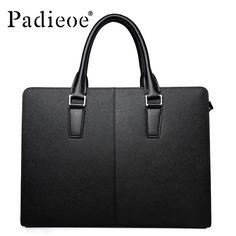 ea0a06f4451 Padieoe High Quality Discounted Leather Luxury Portfolios Bags Men Tote Bag  Fashion Shoulder Bags Business Briefcase