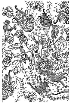 Zen Antistress Flowers Adult Coloring Pages Printable And Book To Print For Free Find More Online Kids Adults Of