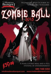 £25 ticket to The Medieval Banquet's Zombie Ball with Dinner