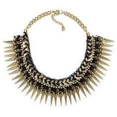 Zara Black And Golden Plaited Necklace ($30) ❤ liked on Polyvore