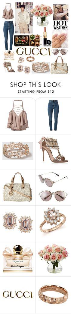 """Sin título #413"" by karla-armstrong ❤ liked on Polyvore featuring Balmain, Yves Saint Laurent, Dorothy Perkins, Casadei, Michael Kors, Miu Miu, Bloomingdale's, Salvatore Ferragamo, Ravi and Nearly Natural"