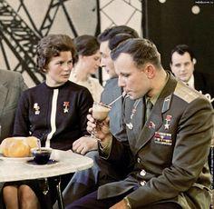 Yuri Gagarin and Maria Tershkova